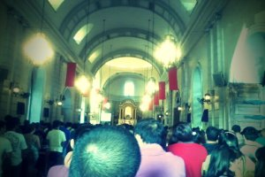 Inside Malate church