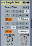 ableton live delay